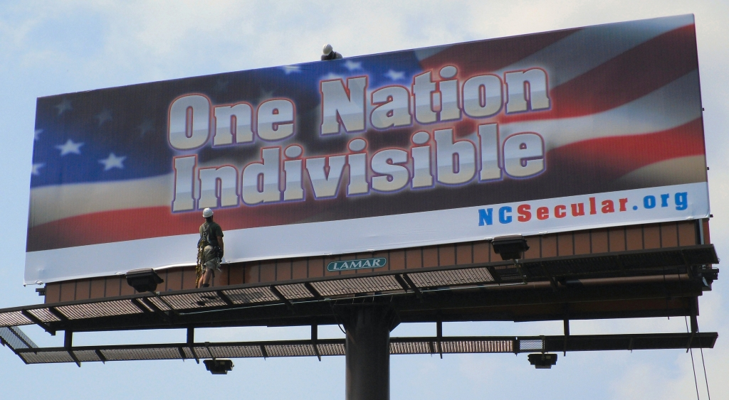 'One Nation Indivisible' Billboard restored